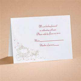 Your Carriage Awaits - Respond Card and Envelope