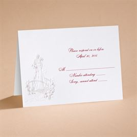"Love""s Journey with Claret Accents - Respond Card and Envelope"