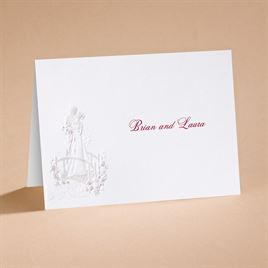 "Love""s Journey with Claret Accents - Note Card and Envelope"