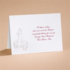 Loves Journey with Claret Accents - Reception Card