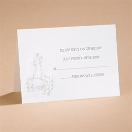 Loves Journey with Pearl Accents - Respond Card and Envelope
