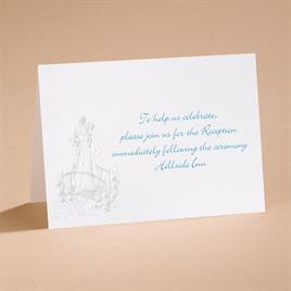 Loves Journey with Pearl Accents - Reception Card
