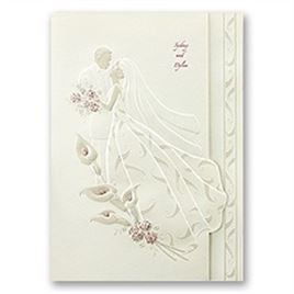 Ecru Wedding Invitations: 