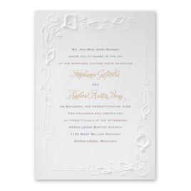 Floral Wedding Invitations: Beautiful Border Invitation