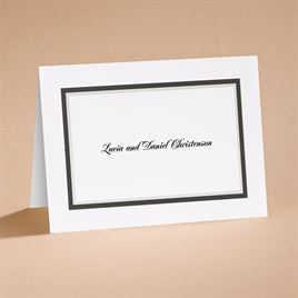 Black The Edge - Note Card and Envelope