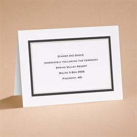 Black The Edge - Reception Card