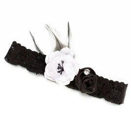 Wedding Garters: Black Vintage Lace Wedding Garter