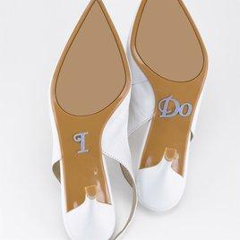 Wedding Ceremony Decorations: I Do Shoe Stickers