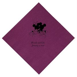 A Classic - Disney Amethyst Beverage Napkin in Foil