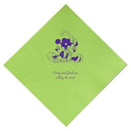 A Classic - Disney Lime Beverage Napkin in Foil