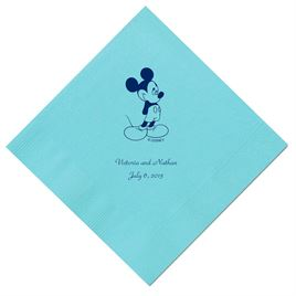 A Classic - Disney Pool Dinner Napkin in Foil
