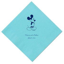 A Classic - Disney Pool Dinner Napkin in Foil