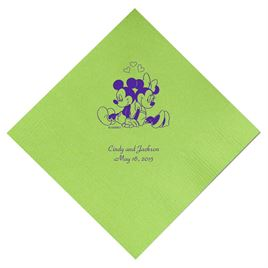 A Classic - Disney Lime Dinner Napkin in Foil