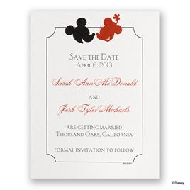 Disney - Oh, Boy! Save the Date Card - Mickey Mouse