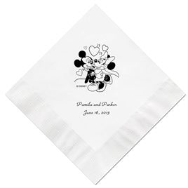 A Classic - Disney White Beverage Napkin in Foil