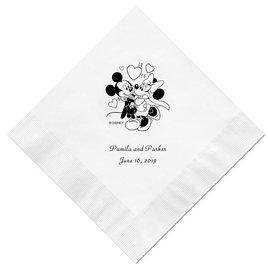 A Classic - Disney White Beverage Napkin in Foil