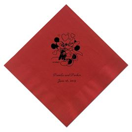 A Classic - Disney Red Beverage Napkin in Foil