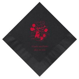A Classic - Disney Black Beverage Napkin in Foil