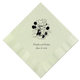 A Classic - Disney Mint Beverage Napkin in Foil