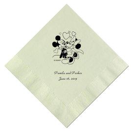 A Classic - Disney Mint Beverage Napkin in Foil