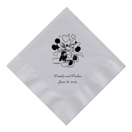A Classic - Disney Silver Dinner Napkin in Foil