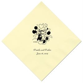 A Classic - Disney Pastel Yellow Beverage Napkin in Foil