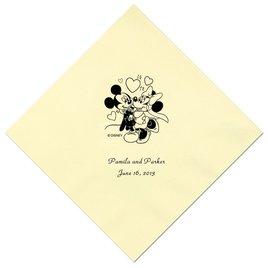 A Classic - Disney Pastel Yellow Beverage Napkin in Foil
