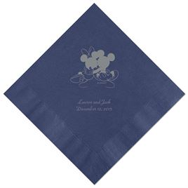 A Classic - Disney Navy Beverage Napkin in Foil