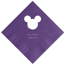 A Classic - Disney Purple Beverage Napkin in Foil