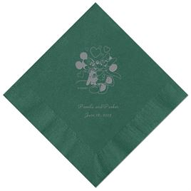 A Classic - Disney Hunter Beverage Napkin in Foil