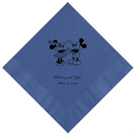 A Classic - Disney Royal Blue Beverage Napkin in Foil