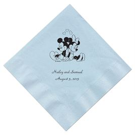 A Classic - Disney Pastel Blue Dinner Napkin in Foil