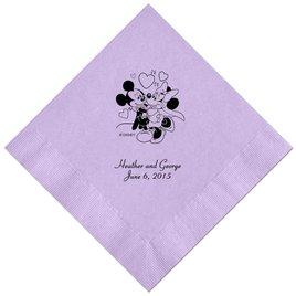 A Classic - Disney Lavender Dinner Napkin in Foil