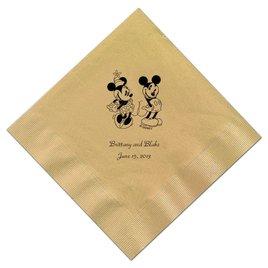 A Classic - Disney Gold Beverage Napkin in Foil