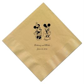 A Classic - Disney Gold Dinner Napkin in Foil
