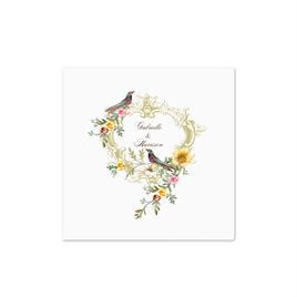 Vintage Birds - White Cocktail Napkin