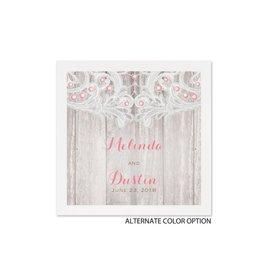 Country Affair - White Cocktail Napkin