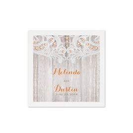 Country Affair - White Cocktail Napkin