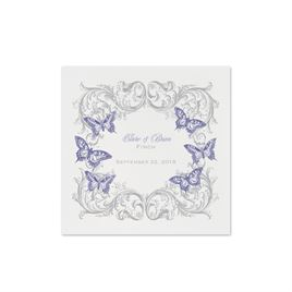 Love Takes Flight - White Cocktail Napkin