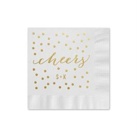Cheers Foil Cocktail Napkin
