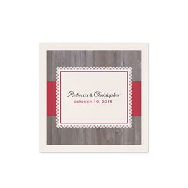 Rustic Fence - Ecru Cocktail Napkin