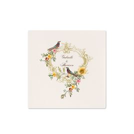 Vintage Birds - Ecru Cocktail Napkin