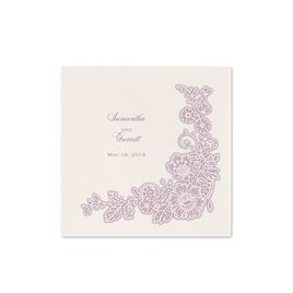 Lacy Corners - Ecru - Cocktail Napkin