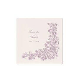 Designer Wedding Napkins: Lacy Corners - Cocktail Napkin