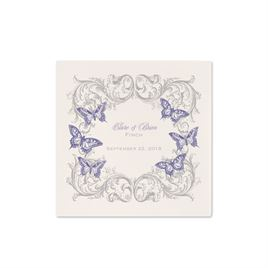 Love Takes Flight - Ecru Cocktail Napkin