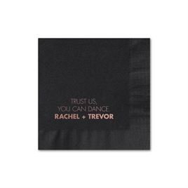 Your Words - Black - Foil Cocktail Napkin