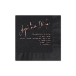 Cocktail Wedding Napkins: 