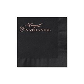 Beautiful Names - Black - Foil Cocktail Napkin