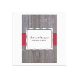 Rustic Fence - White Dinner Napkin
