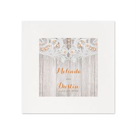 Country Affair - White Dinner Napkin